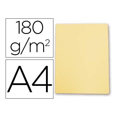 Subcarpeta de cartulina Gio Din A4 amarillo pastel 180 g/m2