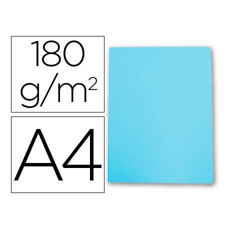 Subcarpeta cartulina gio din a4 celeste pastel 180 g/m2