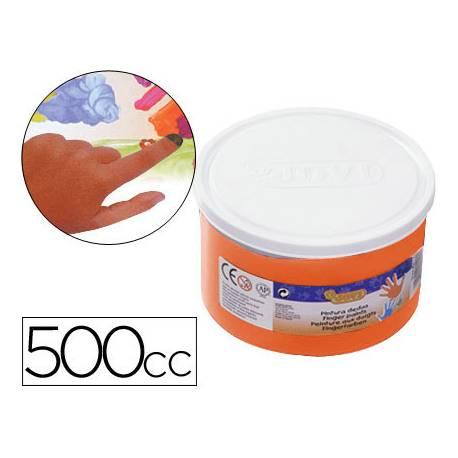 Pintura de dedos Jovi 500cc color naranja