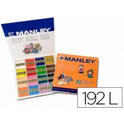 Lapices cera blanda Manley 192 unidades
