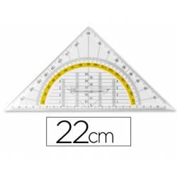 Escuadra marca Liderpapel geometria 22 cm con agarradera fija