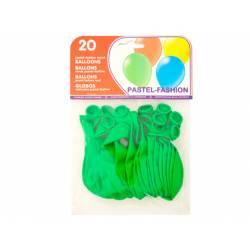 Globos redondos hinchables color verde
