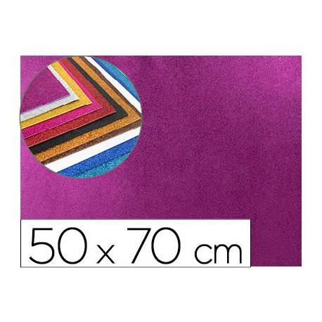 Goma eva con purpurina Liderpapel violeta