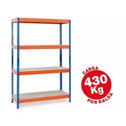 Estantería AR Storage metálica con 4 estantes 430 kg