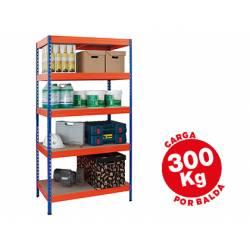 Estantería AR Storage metálica con 5 estantes 300 kg