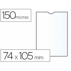 Funda portadocumento Q-connect din a7 150 micras pvc transparente con uñero