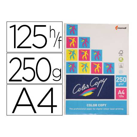 Papel multifuncion Mondi Color Copy A4 250 gr/m2 Satinado