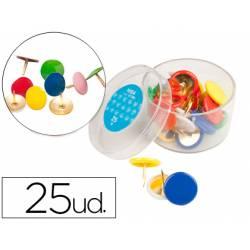 Chinchetas Liderpapel plastificadas caja de 25