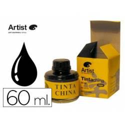 Tinta china artist negra frasco de 60 ml
