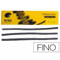 Carboncillo artist finos 3-4 mm caja de 10 barras