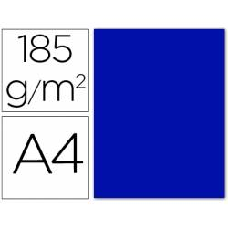 Cartulina Guarro din A4 azul ultramar 185 gr paquete 50 hojas