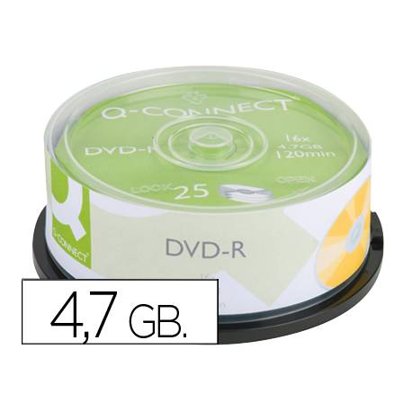Dvd-r Q-Connect capacidad 4,7 GB duracion 120 min
