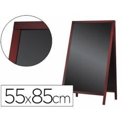 Pizarra Liderpapel negra madera para el suelo 55x85x52 cm