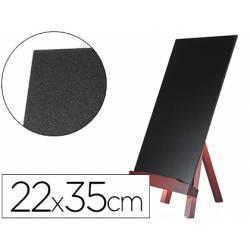 Pizarra Liderpapel con caballete negra madera 22x35 cm
