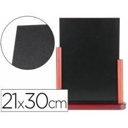 Pizarra de sobremesa Liderpapel negra de madera 21x30 cm
