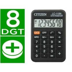Calculadora bolsillo Citizen Modelo lc-110 color negra 8 digitos