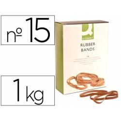 Bandas elasticas N 15 Q-connect 1000 gr 150 x 9 mm