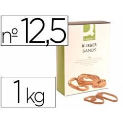 Bandas elasticas N 12,5 Q-connect 1000 gr 125 x 9 mm