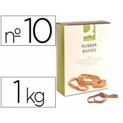 Bandas elasticas N 10 Q-connect 1000 gr 100 x 9 mm