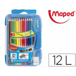 Lapices de colores Maped redondos 12 unidades