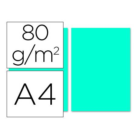 Papel color Liderpapel color turquesa A4 80 g/m2 100 hojas