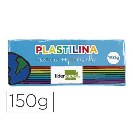 Plastilina Liderpapel color azul claro mediana