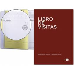 Libro Liderpapel idioma castellano Din A4 Registro de visitas