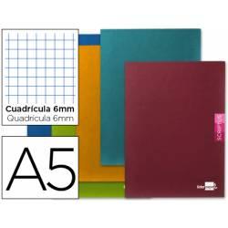 Libreta escolar Liderpapel Scriptus cuadricula 6 mm 48 hojas tamaño DIN A5