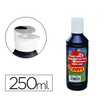 Tempera liquida Jovi color negro 250 cc