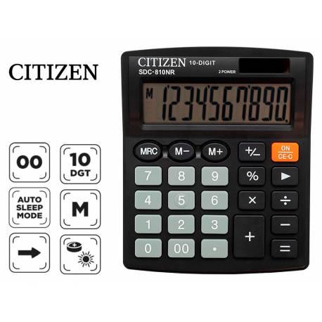 Calculadora sobremesa Citizen SDC-810-BN negra 10 digitos