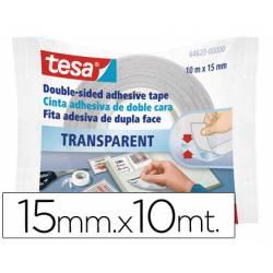 Cinta doble cara marca Tesa 10 mt x 15 mm
