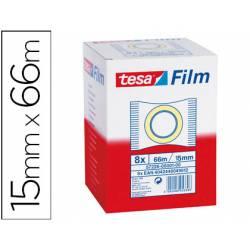 Cinta adhesiva marca Tesa estandar 66 mt x 15 mm