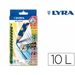 Lapices de colores marca Lyra Groove 10 colores