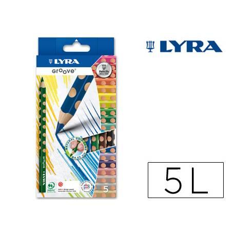 Lapices de colores marca Lyra groove triangular