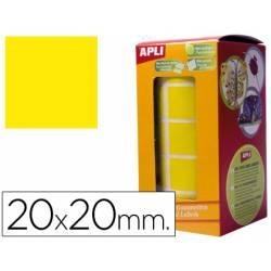 Gomets autoadhesivos cuadradas amarillo.