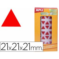 Gomets Apli triangulares color Rojo 21x21x21mm
