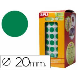Gomets Apli circulares color verde 20mm