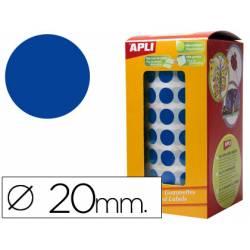 Gomets Apli circulares color azul 20mm