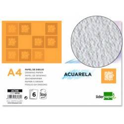 Papel acuarela Liderpapel Din A4 gramaje 300 g/m2