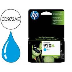 Cartucho HP 920XL color Cian CD972AE