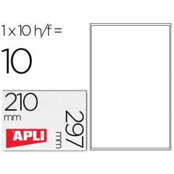 Etiqueta Transparente marca Apli carpetas de 10