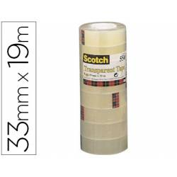 Cinta adhesiva marca Scotch acordeon 550 pack 8 unidades