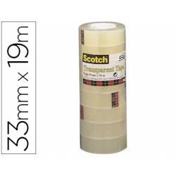 Cinta adhesiva marca Scotch acordeon 550 pack 8 unidades
