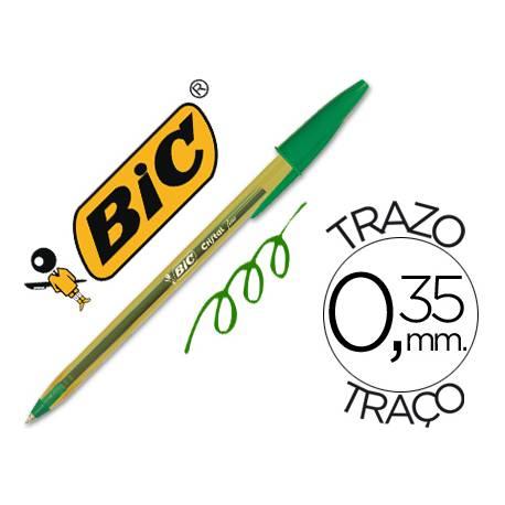 Boligrafo Bic Cristal Naranja color verde 0.30 mm