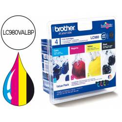 Cartucho Brother LC980VALBP Tricolor + Negro
