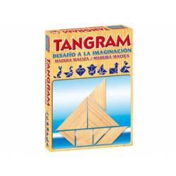 Juego de mesa Tangram madera Falomir
