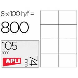 Etiquetas Adhesivas marca Apli 105 x 74 mm
