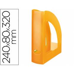 Revistero Liderpapel plastico naranja translucido
