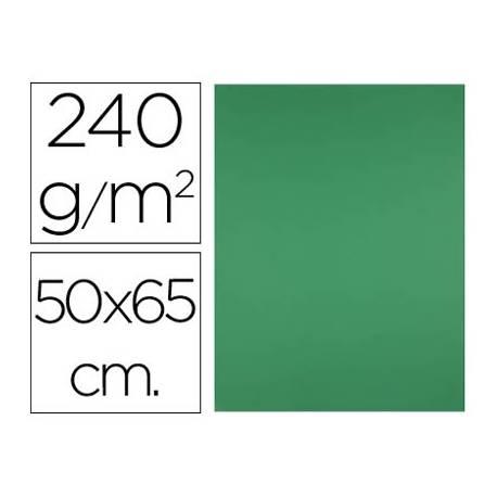 Cartulina Liderpapel verde navidad 240 g/m2