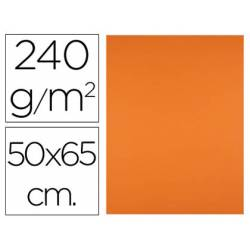 Cartulina Liderpapel color naranja 240 g/m2